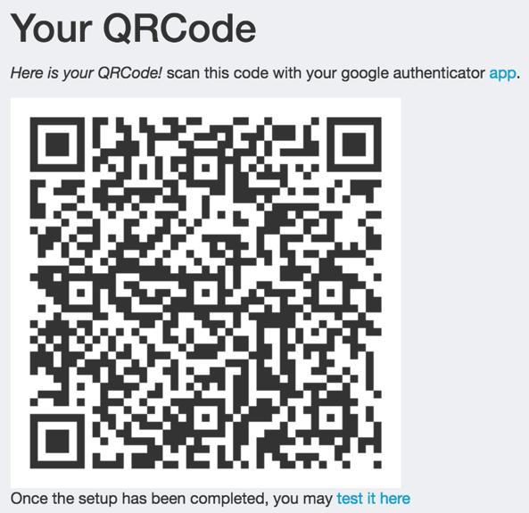 Screenshot of a generated QR Code